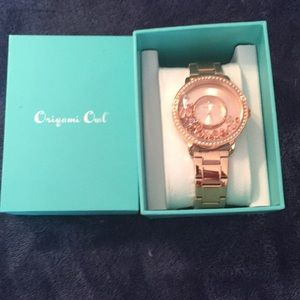 Rose Gold Origami Owl Watch! Brand New!